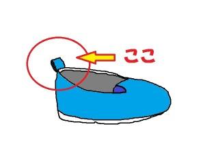 子供スリッポン靴名前つけ方